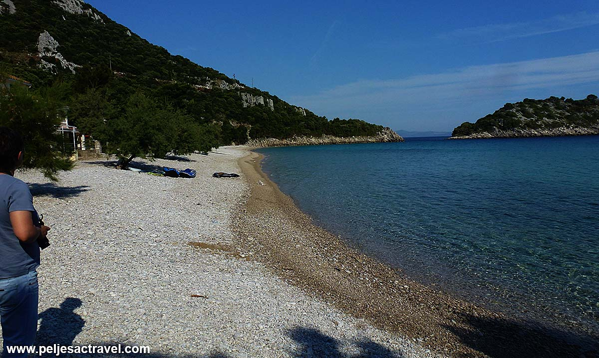 Beach in front of Divna camping site