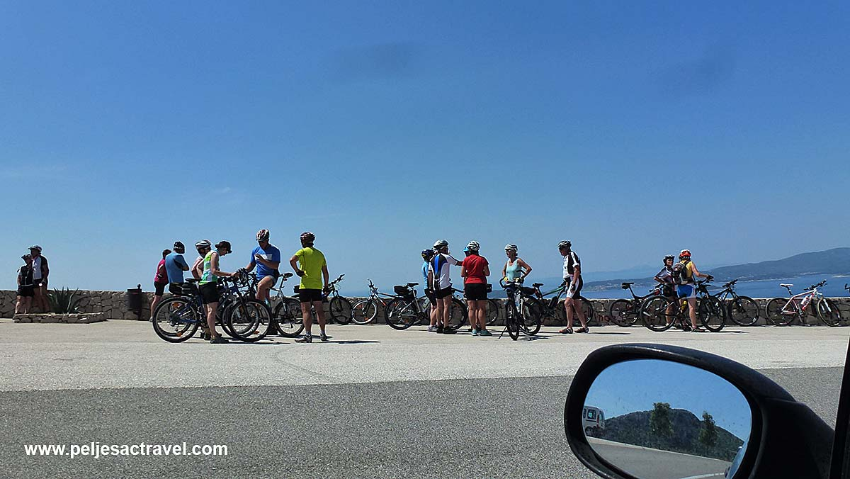 Cyclists Relaxing on Peljesac
