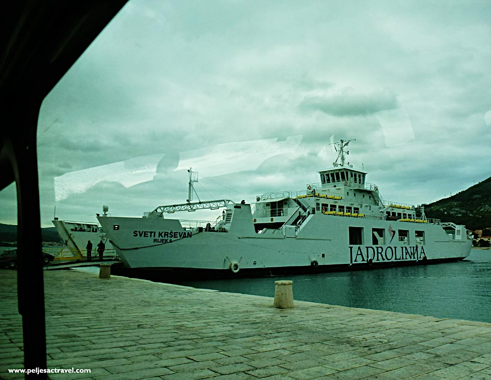 Embarking on a ferry from Orebic