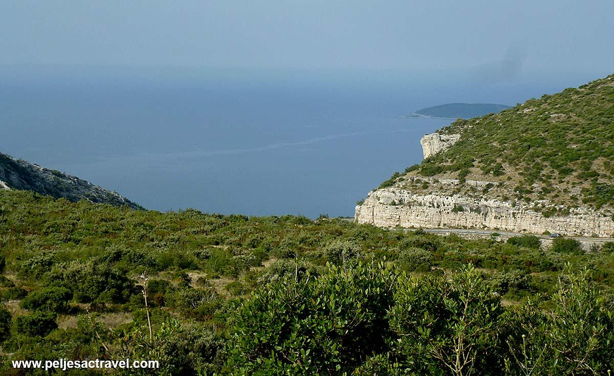 Cliffs of Kapetani, Peljesac with views over Peljesac Channel and Cape Raznjic @ Korcula island