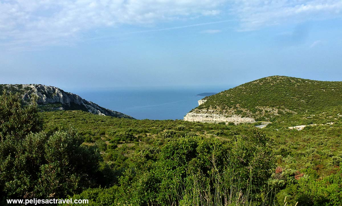 Views over cliffs of Kapetani, Peljesac
