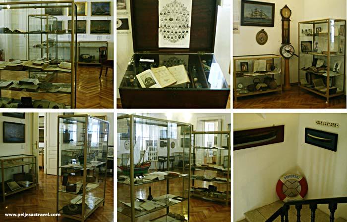 displays of maritime museum in orebic