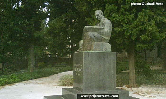 Mato Celestin Medovic monument in Kuna, Peljesac