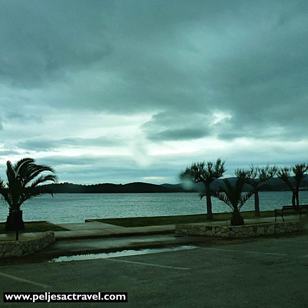 Orebic Riva on Cloudy day