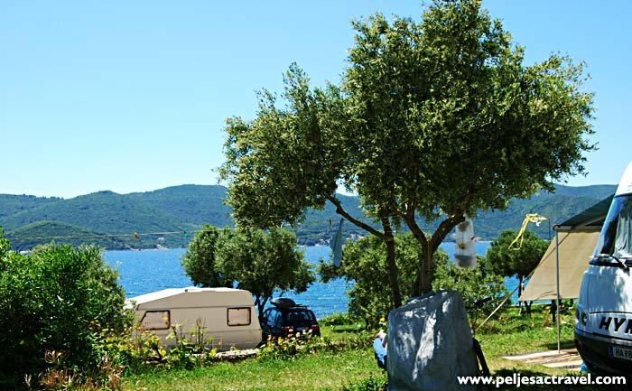 campsite on peljesac