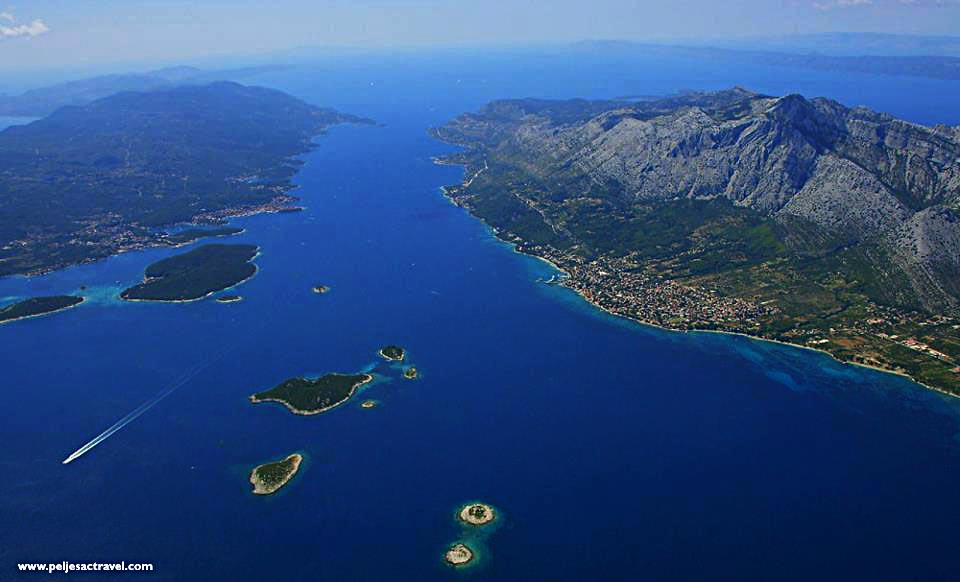 Panorama of Peljesac Channel, Croatia