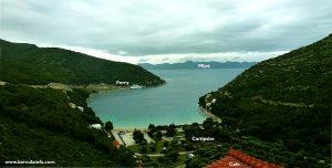 Prapratno Bay with ferry terminal