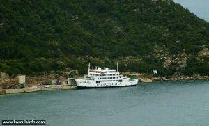 Ferry Lubenice in Prepratno ferry terminal