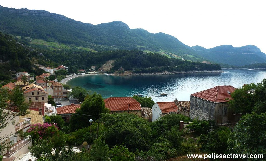 Panorama of Trstenik Beach, Peljesac