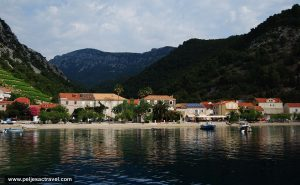 Views over Beach in Trstenik and the Village at the seashore