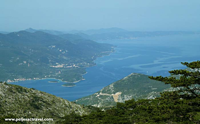 views over peljesac channel