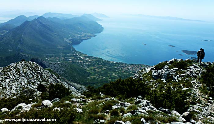 views over peljesac coastline